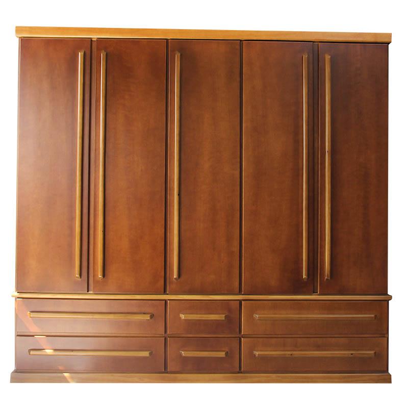 Adesivo De Hormonio ~ Guarda roupas 5 portas M u00f4nica Raizes Móveis Artefatos em madeira